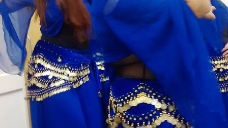 Elizabeth and the Elysian Belly Dancers gave a display at St Andrew's Hall in Witchford. Picture: RO
