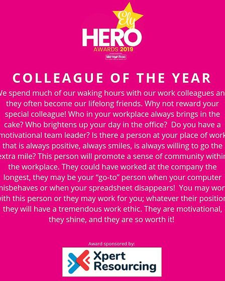 Ely Hero Awards 2019: Nominations for unsung heroes across the city are now open! Picture: INFINITI