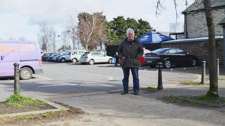 Councillor Bill Hunt pictured at the Newnham Street Car Park where at least six new bays are set to