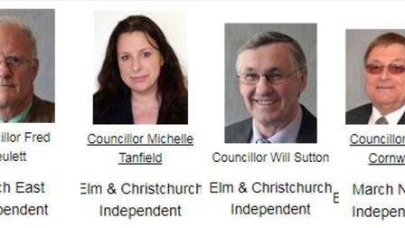 Fenland's new 'gang of four' have already had their profiles on the Fenland Council website changed
