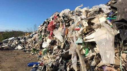 Fly tipping on an industrial scale at Mepal. East Cambs Council desperately want to track down and p