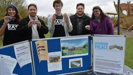 Campaigners hold a skate park rally in Ely. Picture: MIKE ROUSE