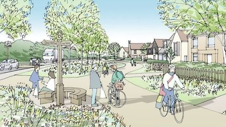 An artist's impression of what Kennett could look like as a garden village. However a local action g