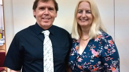 Isle Singers Valentine's Day concert. Phil and Laurine. Picture: ROSEMARY WESTWELL
