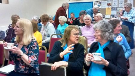 Isle Singers Valentine's Day concert. Coffee and cake were popular in the interval. Picture: ROSEMAR