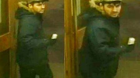 This is the man wanted for questioning by police in Ely. The CCTV image was released this week altho