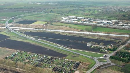An aerial view of the Ely Southern Bypass. Picture: ROYAL INSTITUTION OF CHARTERED SURVEYORS.