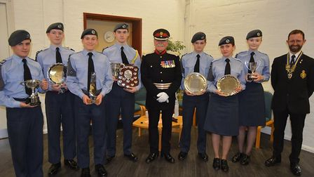 The1094 City of Ely Squadron RAF Air Cadets annual awards ceremony attended by Roger Herriot OBE the