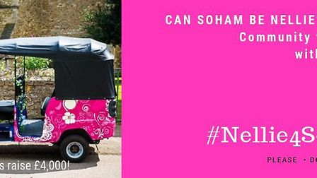 A fundraising campaign has been launched to bring a tuk tuk to Soham to help transport residents to