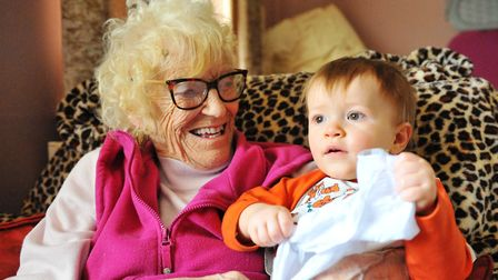 Four generations of the same family including a terminally ill grandmother and one-year-old child ar