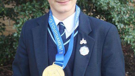 Gold medal win for judo King's Ely pupil. Picture: KING'S ELY.