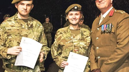 Brigadier Tim Seal TD DL VR visited Chatteris Army Cadet HQ on to present a number of awards. EFAW (