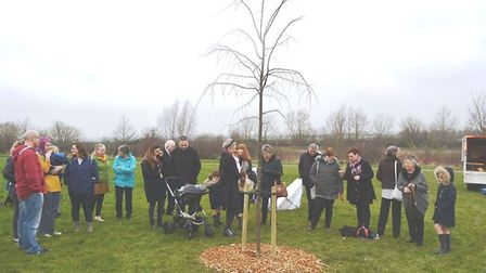 A special tree planting ceremony to remember popular Ely publican Steve Baxter who died at the age o
