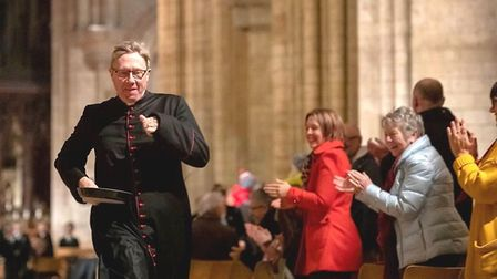 Pancake races in Ely Cathedral.Picture: ELY CATHEDRAL