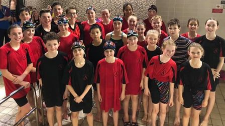 Dunmow Atlantis youngsters at the Harlow Spring meet