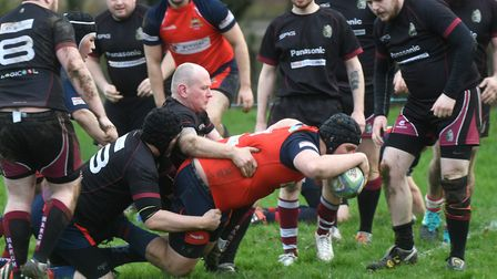 Action from the match between Wisbech Wildcats and March (pic Ian Carter)