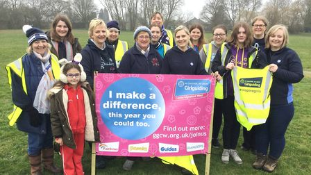 Girl Guides volunteer as marshalls and time keepers at park runs in four towns as part of World Thin