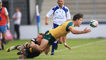 Former Felsted schoolboy Rory Hutchinson, seen in action for scotland U20s against Australia, has si