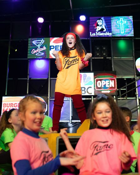 Thirty six pupils at Kings Ely Junior performed their own toe-tapping version of the musical, Fame,