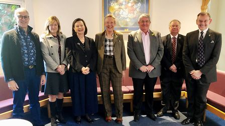 Lord Lieutenant Julie Spence met her new deputy Lieutenants at Hughes Hall on Saturday 9 March. From