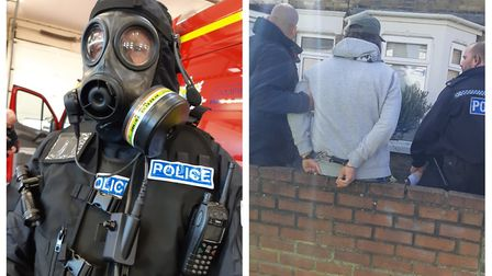 Police discovered what they believe to be crystal meth labs in Cambridgeshire following a series of