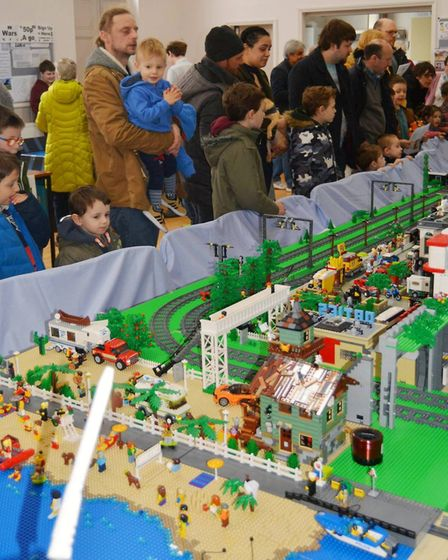 Lego models at the Ely Brick Show at the Countess Church in aid of Ely Christians Against Poverty. P