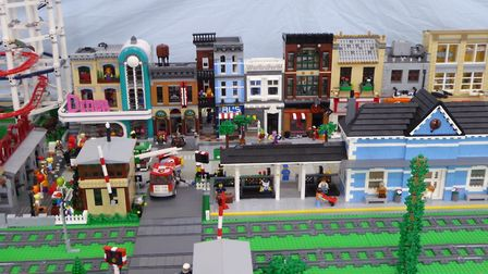 Lego lovers delight at mind-boggling displays at Ely Methodist Church: Lego City was one of the disp