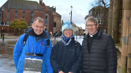 The High Sheriff for Cambridgeshire Dr Andy Harter (pictured right) with his wife Lily Bacon (centre