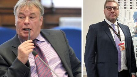 Cllr Dave Connoir (left) is backing Mayor James Palmer (right) over proposals to expand the number o