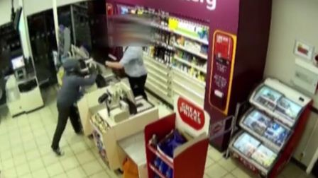 Knife brandishing robber Stefan Clark wasd disarmed by heroic shop worker he tried to rob. The shop