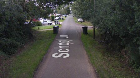 A police dog helped sniff out two men who were hiding in bushes in School Lane, Chittering, followin