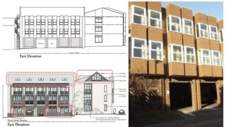 Flats conversion at Alexander House, Forehill, Ely. No permission needed for 20 but new application