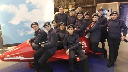 1094 Ely Squadron Royal Air Force Squdron visit the RAF Museum in London. Picture: 1094 Ely SQUADRON