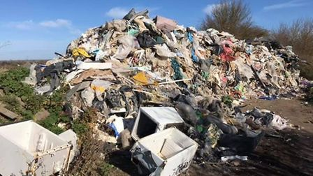 One of the most recent incidents of fly tipping on an industrial scale at Mepal.