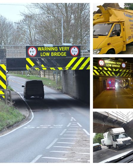 The most bashed bridge in Britain Picture: ARCHANT