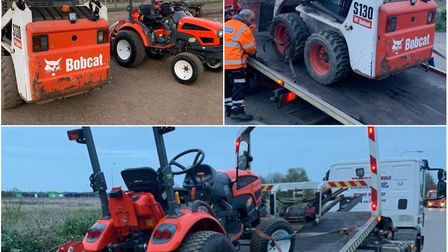 Stolen equipment worth thousands of pounds recovered by police. Picture: CAMBS POLICE.