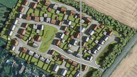 Ness Road, Burwell, where 90 homes proposed by David Wilson Homes have been rejected following an ap