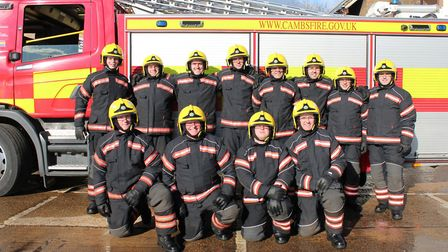 A new team of on call crew start with Cambridgeshire Fire and Rescue.Picture: CAMBS FIRE AND RESCUE