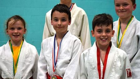 Louie, Freddie, Lily, Oliver, and Archie from Littleport Judo Club took on the challenge of their fi