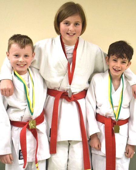 Lucas, Daisy and Kyle from Witcham Judo Club took on the challenge of their first judo contest at Li