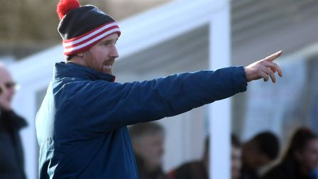 Ely City boss Brady Stone misses their next two games due to a stadium ban. Picture: IAN CARTER