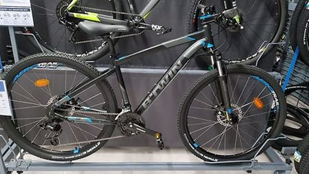 Dawid Branski's girlfriend's new bicycle (pictured) which was stolen from Ely boatyard this afternoo