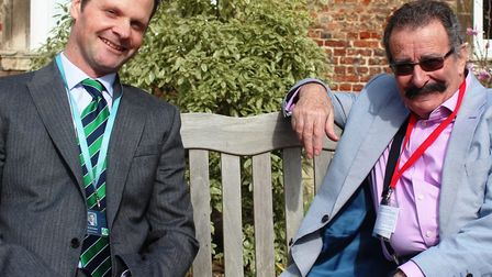 Professor Lord Robert Winston, right, with Ned Kittoe, head of science at King's Ely Senior (left).