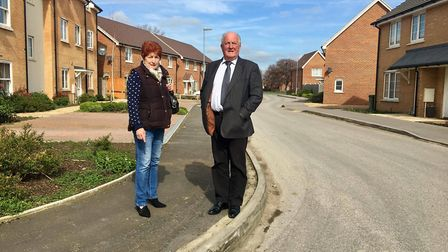 """A road in March is still in a """"dangerous state"""" with raised drain lids, potholes and kerbs sticking"""