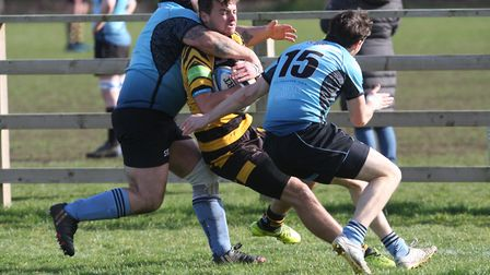 Ely Tigers whirlwind start blows Woodbridge away. James Buckland finds a gap in the Woodbridge defen