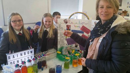 More than 300 people attended Ely College's second annual science fair. Among the experiments on dis