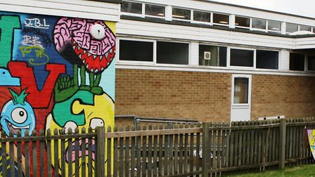 Witchford Village College held a graffiti workshop with renowned street artist and illustrator Si Mi