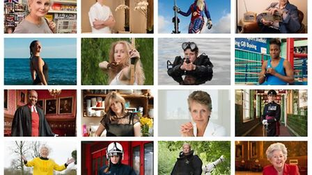 One hundred women are featured in the decade-long portrait project by Anita Corbin named '100 First