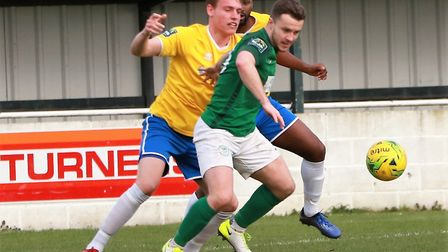 Sam Mulready hit the only goal as Soham Town Rangers saw off Canvey Island. Picture: ROBERT CAMPION