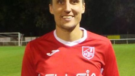 Ely City star Lee Reed struck from the penalty spot against FC Clacton. Picture: ELY CITY FC